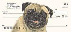 Pug Dog design personal checks and checkbook covers. Order Checks Online, Mary K, Pugs And Kisses, Custom Checks, Business Checks, Pug Love, Dog Design, Dog Breeds, Funny Pictures
