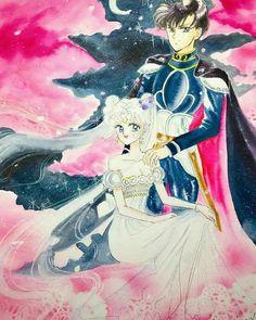 Serenity and Endymion Sailor Moon Manga, Sailor Moon Art, Sailor Moon Crystal, Otaku Anime, Anime Manga, Sailor Moon Drops, Sailor Princess, Sailor Moon Character, Sailor Moon Wallpaper