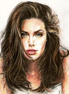 Realistic colored pencil portraits : celebrity And girls Sketches ...