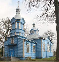 Milejczyce, Podlasie, Poland by LeszekZadlo.  It's like a mixture between a barn and the Taj Mahal!