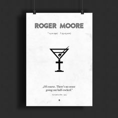 R.I.P. Roger Moore  /  (c) grafinesse  /  #RogerMoore #RIP #JamesBond #minimalistic #posterart #screenprint #grafinesse #fanart #design #poster #tribute #vectorart #print #007