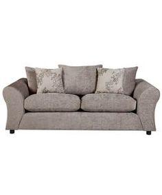 Clara Large Fabric Sofa - Mink.