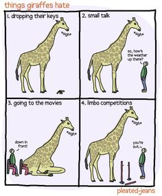 things giraffes (and tall people) hate