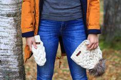 Knitwear set - handmade / merino #winter #white #hat #autumn #fall #blonde #girl #hat #mittens #fashion #outfit #2016 #2017 #trendy #handknitted #handmade #wool #woolen