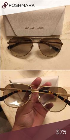 AUTHENTIC MK SUNGLASS Like new no scratches and still like new condition. Comes with cloth and cases. Open for reasonable price. Michael Kors Accessories Sunglasses