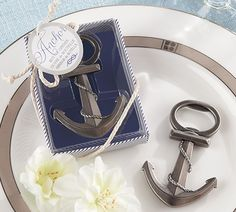 Anchor Theme Bottle Opener Favor - Nautical Party Favors @Missy Mauro  How cool would this be for adults??