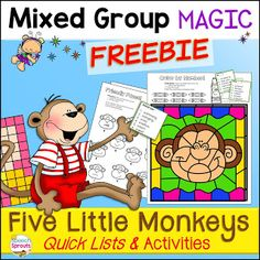 Monkeyshines in the Speech Room: Adorable Five Little Monkeys Craft and Language Activities Speech Therapy Worksheets, Preschool Speech Therapy, Language Activities, Book Activities, Teaching Resources, Monkey Jump, Monkey Crafts, Five Little Monkeys, Speech And Language