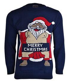 Men's Adults Novelty Naked Santa Merry Christmas Knitted Jumper Sweater, http://www.amazon.com/dp/B00O3646TI/ref=cm_sw_r_pi_awdm_XHKHub09G6BSC