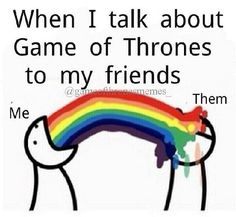 Talking Game of Thrones to your friends..