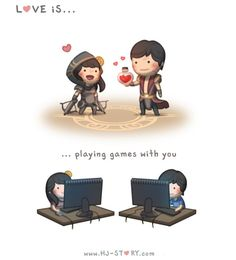 Love is...  ...playing games with you   #HJ-Story.com