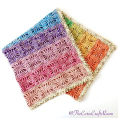 The Rainbow Spirit Blanket is a colourful blanket that can easily be adjusted to any size. It is worked double stranded with tw...