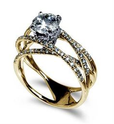 Shop online MARK SILVERSTEIN 2001-18KY Side Stone Yellow Gold Diamond Engagement Ring at Arthur's Jewelers. Free Shipping