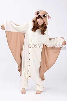 Animal Costume Flying Squirrel Adult Onesie Kigurumi Pajamas-- it comes with a blanket!!