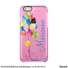 Cute Pastel Balloons and Streamers iPhone 6 Case