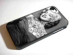 MARYLIN MONROE WITH TATTOO iPhone 4/4s/5/5s/5c, Samsung Galaxy s3/s4 – Sopive