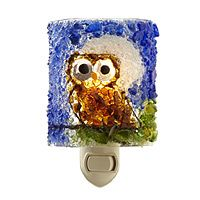 Recycled Glass Night Owl Nightlight Sure to be a hoot and a hit, this charming nightlight is handmade from post-consumer glass.