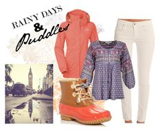 """Rainy Days & Puddles"" by thefreshlooks ❤ liked on Polyvore featuring Genetic Denim, The North Face, Nomad and Jack Rogers"