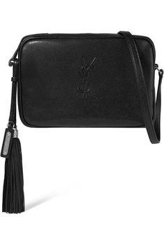 Saint Laurent | Monogramme Lou medium textured-leather shoulder bag | NET-A-PORTER.COM
