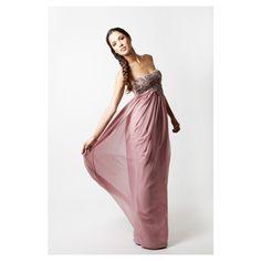 jewel long dress #princesspink