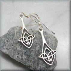 6337c2d9d Celtic Knot Earrings, Drop Earrings, Irish Jewelry, Sterling Silver, Irish  Knot Earrings