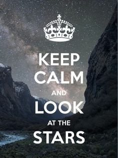 ...and look at the stars