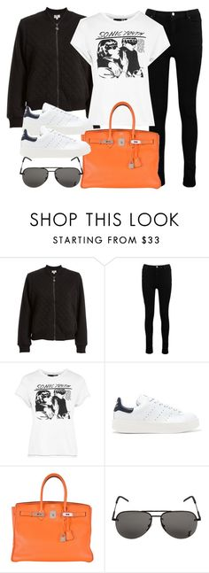 """Sin título #12018"" by vany-alvarado ❤ liked on Polyvore featuring Max Studio, Boohoo, Topshop, adidas Originals, Hermès and Yves Saint Laurent"
