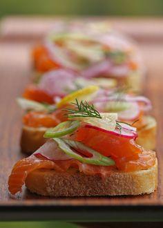Cured Salmon (Gravlax) Sandwiches Estonian Style