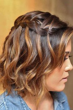Side Waterfall Braid for Short Hair