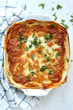 Vegetarian Lasagne in dish
