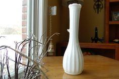 Milk glass vase by WhiteBarnHome on Etsy, $7.00