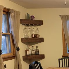added a photo of their purchase Rustic Shelves, Rustic Wood, Wood, Corner Shelves, Shelves, Wood Rack, Wood Wine Racks, Corner Wall, Wine Shelves