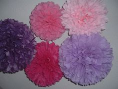 Decorative paper poms...12 tissue poms.