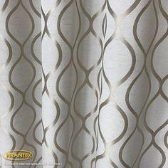 Tkanina zasłonowa MAROKO / szer 150cm / kolor krem+złoty | Zasłony \ Zasłony na metry \ Zasłony - wzory | Sklep internetowy Firantex