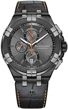 Maurice Lacroix Watch Aikon #add-content #basel-18 #bezel-fixed #bracelet-strap-leather #brand-maurice-lacroix #case-material-black-pvd #case-width-44mm #chronograph-yes #date-yes #delivery-timescale-call-us #dial-colour-black #discount-code-allow #gender-mens #luxury #movement-quartz-battery #new-product-yes #official-stockist-for-maurice-lacroix-watches #packaging-maurice-lacroix-watch-packaging #style-dress #subcat-aikon #supplier-model-no-ai1018-pvb01-334-1