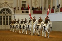 Spanische Hofreitschule, the Spanish Riding School of Vienna, Austria, is a traditional riding school for Lipizzan horses, which perform in the Winter Riding School in the Hofburg.