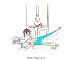 Yoga Girls 482659285048840166 - illustration magalie F fitness.jpg – Magalie F Picture Illustration, Sketches, Illustration, Art Drawings, Drawings, Art, Illustration Girl, Cute Drawings, Cute Illustration