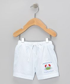 Take a look at this Blue Crab Smocked Shorts - Infant & Toddler by Sweet Teas Children's Boutique on #zulily today!