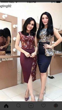 Dress brokat pendek modern 45 Ideas for 2019 Batik Blazer, Blouse Batik, Batik Dress, Dresses For Teens, Trendy Dresses, Simple Dresses, Nice Dresses, Dress Batik Kombinasi, Dress Brokat