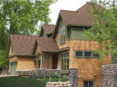 Check out the cedar shake siding!