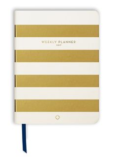 2017 Weekly Devotional Planner - Gold Stripes - 52 weeks. 52 women. 52 devotions. A tool to keep you organized and anchored in God.