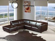 Stylish Design Furniture - Bella Italia Domino Upholstered ECO Leather Espresso Sofa w. Ottoman, $1,417.50 (http://www.stylishdesignfurniture.com/products/bella-italia-domino-upholstered-eco-leather-espresso-sofa-w-ottoman.html)