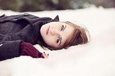 Senior teenage girl snow photography ideas www.clareahaltphotography.com