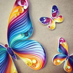 Paper sculpture - butterflies