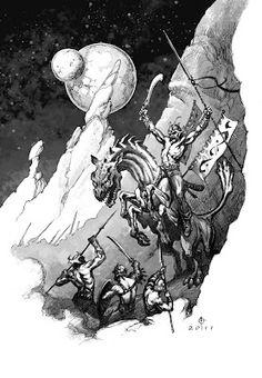 John Carter of Mars illustration by Daren Bader