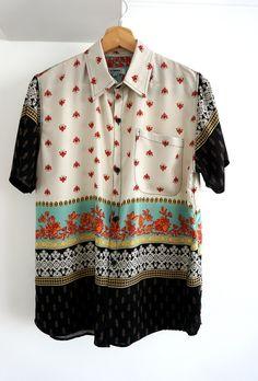 Indian Men Fashion, Pretty Shirts, Short Sleeve Button Up, Apparel Design, Casual Shirts, Shirt Style, Men Dress, Cool Outfits, Menswear