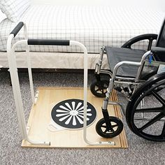 Wheelchair Pivot board to Assist with Transfer plus grab rails angled for use both ways. Weight on the base board makes it steady. Handicap Accessible Home, Wheelchair Accessories, Handicap Accessories, Handicap Bathroom, Adaptive Equipment, Handicap Equipment, Medical Equipment, Mobility Aids, Occupational Therapist