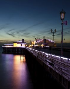 Blackpool North Pier by night.