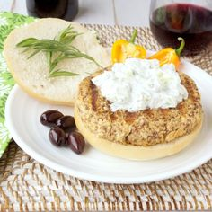 Simply Healthy Family: Grilled Mediterranean Salmon Burgers with Tzatziki sauce