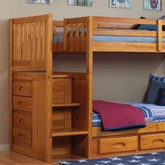 We have this already....but we are getting ready to remake the room over...planning started...still love this Solid Pine twin over full bunk bed with stairs...