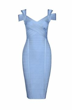 Deep V Neck Midi Bandage Dress